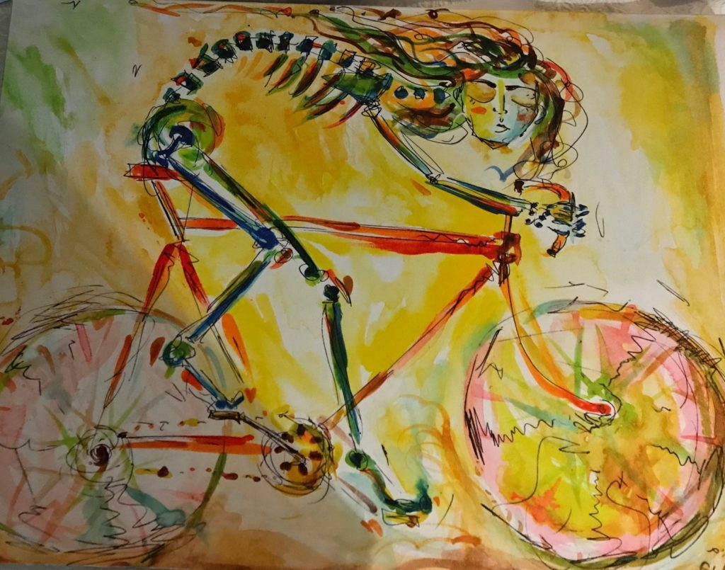 The Cyclist Returning